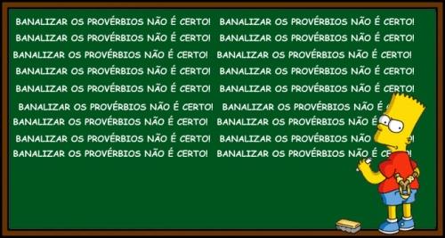 Bart e os proverbios